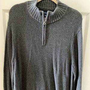 Croft & Barrow Gray Quarter-zip Sweater